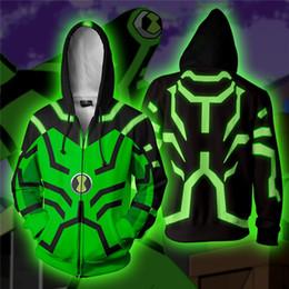 free adult tv 2019 - NEW Anime ben10 Alien Force Cosplay Costumes Zipper Hoodies Sweatshirts 3D Printing Unisex Adult man women Clothing