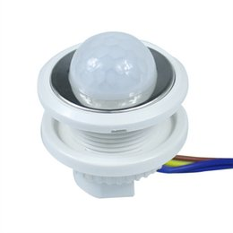 China 2018 New 1pcs 40mm PIR Infrared Ray Motion Sensor Switch time delay adjustable mode detector switching cheap new delay suppliers
