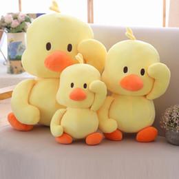 China 30cm Comforting Stuffed Animals Plush Doll Ins Small yellow DuckBaby Companion Sleeping Plush Dolls Toys Novelty kids toys suppliers