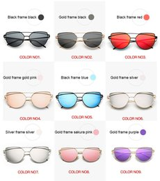deck framing 2019 - DHL FAST SHIP Cat Eye Sunglasses Women 2018 New Sunglasses Women Brand Designer Fashion Twin Beam Sunglasses Double-Deck