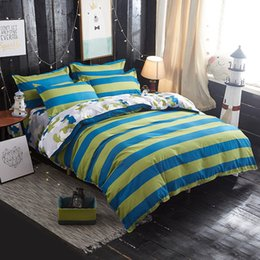 printed sheets 2019 - Yellow Blue Plaid Bedding Sets Duvet Cover Set Twin Full Queen King Size Bed Linen Quilt Cover Bedding Flat Sheet Set Pi