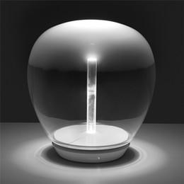 modern art deco bar 2019 - Modern Clear Glass LED Table Lamps Decor Art Bar Table Light For Study Replica Lightings Bedroom Eye Room Home Lighting
