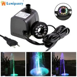 Ac submersible pump online shopping - LumiParty Mini Submersible Water Pump with LED Light for Aquariums KOI Fish Pond Fountain Waterfall jk35