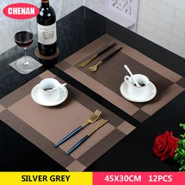 slipped disc 2019 - Placemat fashion pvc dining table mat disc pads bowl pad coasters waterproof table cloth pad slip-resistant dining mat c