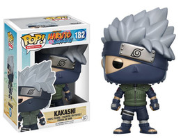 Discount naruto pop - Official Funko Pop Anime :Naruto -Shippuden Kakashi Vinyl Figure Collectible Model Toy With Original Box Action Figures