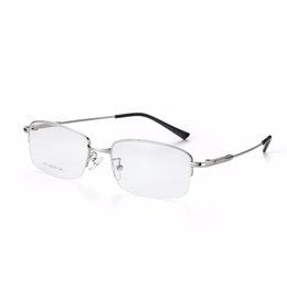 China 2017 Fashion Titanium Myopia Rimless Glasses Memory Square Eyeglasses Optical Frame Eyewear Men Women Brand Designer 9201 supplier rimless eyeglass frames wholesale suppliers