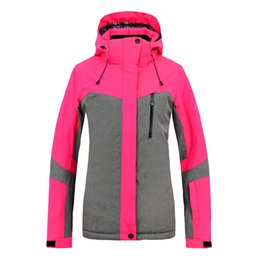 Discount xxl ski jackets women - New Ski Suit Winter Women Windproof waterproof Warm Thick Cotton Hiking Snowboard Jacket Rose Red S-XXL