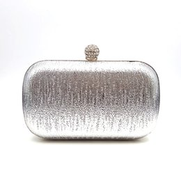 simple evening clutch bags 2019 - Elegant purses women evening party solid bag simple purses women handbag wedding Gray God Champagne Red Black Silver dis