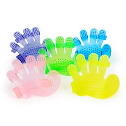 Massage shower brush online shopping - Cat Shower Cleaning Brush Five Fingers Palm Shape Pet Bath Massage Comb Safety Dog Grooming Supplies New Arrival tt CB