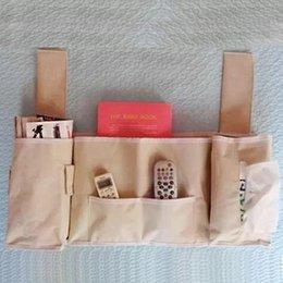Remote contRolled undeRweaR online shopping - Hot bedside storage bag Oxford cloth storage bag home bedroom bag remote control magazine paper towel underwear storage
