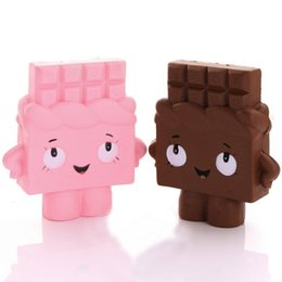 Mobile chocolate online shopping - New Arrival cm Jumbo Chocolate Boy Girl Squishy Soft Slow Rising Scented Gift Fun Toy Mobile Phone Straps