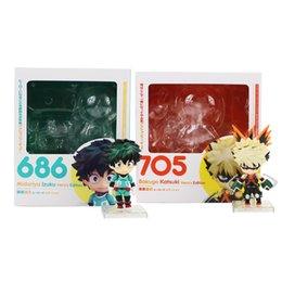 frozen toys 2019 - 10cm My Hero Academia Nendoroid Midoriya Izuku 686 Bakugou Katsuki 705 PVC Action Figure Collectible Model Toy cheap fro
