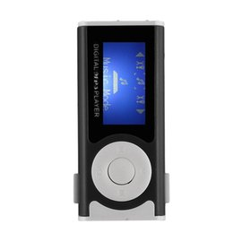 Chinese  MP3 Player LCD Screen USB Cable Mini Clip Mp3 Player LED Light Stereo Super Bass Music for Micro SD TF Card16GB +Earphone manufacturers