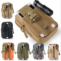 Pocket holsters online shopping - Wallet Pouch Purse Phone Case Outdoor Tactical Holster Military Molle Hip Waist Belt Bag with Zipper for iPhone Samsung