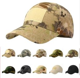 tactical army hat 2019 - Outdoor Sport Snapback Caps Camouflage Hat Simplicity Tactical Military Army Camo Hunting Cap Hat For Men Adult Cap LJJK