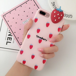 Discount fruit mobile phone - Wholesale Mobile phone shell Phone Case Cartoon fruit print phoneX7plus 6s creative all-inclusive soft shell protection