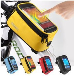 """Discount bicycle phone holders waterproof - Bicycle Bag Touchscreen Bike Front Frame Bags Holder Pannier Waterproof 4.2"""" 4.8"""" 5.5"""" Phone Pouch+Extens"""
