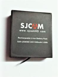 sjcam battery 2019 - original battery Original Brand 3.8V 1000mAh 3.7Wh Li-ion Battery Black for SJCAM SJ6 LEGEND Sport Camera Batteries disc