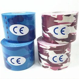 Elastic tapE sport online shopping - Camouflage Kinesiology Tape Outdoor Portable Elastic Motion Bandage Good Quality Football Sport Knee Muscle Paste Blue Pink jh Ww