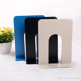 bookend book 2019 - Durable Heavy Duty Metal Book End Shelf Bookend Holder Office School Supplies Stationery Student Good Helper Hot Sell 2