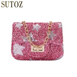 small child fashion boy 2019 - Fashion Mini Woman Messenger Bags Bling Sequins Star Little Girls Bag Glitters Crossbody Small Purse Party Bag Children