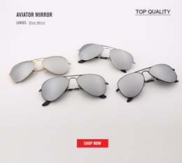 Discount men reflective sun glasses - Luxury pilot Sunglasses Women Men Brand Designer Reflective Mirror Sunglass Female Male Lady Sun Glasses Vintage Retro o