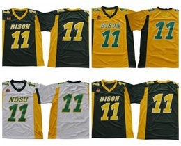 Discount cheap white shorts - 2018 North Dakota State Bison NDSU Carson Wentz College Football Jerseys Cheap #11 Carson Wentz University Football Shir