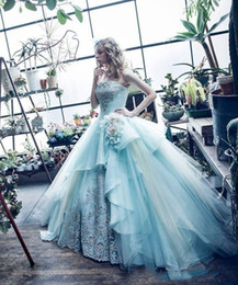 Crystal mints online shopping - 2018 Mint Green Ball Gown Quinceanera Dresses Gowns Princess Crystal Prom Dress Sweet Ball Gowns Formal Special Occasion Evening Party Dress