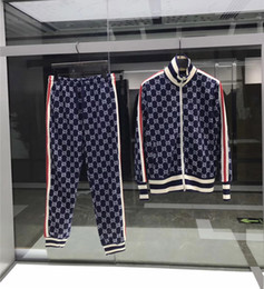Wholesale 2019 Brand New Mens Jackets and Pants Luxury Fashion Designer Sweatshirt Suits Men Coats Casual Tracksuit Jacket