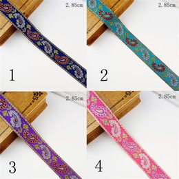 Fabric trimmings lace online shopping - Ethnic Minority Style Lace Fabric Sewing DIY Costume Trim Jacquard Weave Embroidery Ribbon Curtains Home Textiles Accessories dz bb