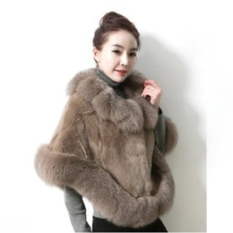 Fashion mink Fur shawl online shopping - Fashion Fox Fur Collar Faux Fur Coat Women Autumn winter New Imitation Mink Fur Shawl Cloak Cape High Quality Women Clothing