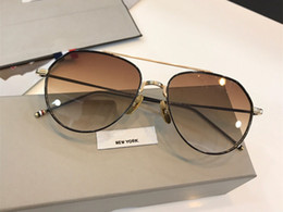 mens goggle style sunglasses 2019 - Luxury brand new fashion sunglasses for mens womens 909 classic style metal pilot frame trend designer glasses Coating l