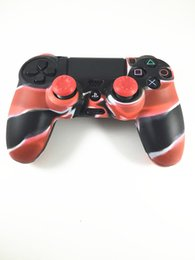 ps4 silicone camouflage 2019 - hot sale Camouflage Soft Silicone Guards Case Thicker Skin Protective Cover for PS4 Controller Dualshock 4