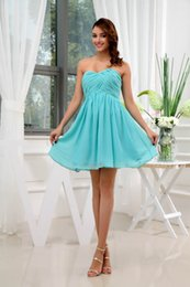 Chiffon sweetheart knee length wedding dress online shopping - Strapless Chiffon Short Bridesmaid Dresses Ruched Knee Length Formal Wedding Guest Maid Of Honor Dresses WD3