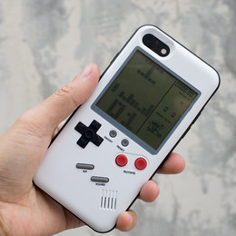 Game cases wholesale online shopping - Retro Game Tetris Phone Cases Play Game Console Cover Shockproof Protection Case For iPhone X Plus With Retail package