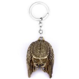 car mask 2019 - 10pcs lot Horror Movies Alien  The Head 3D Mask Keychain AVP Alien Mask Key Rings Chaveiro Car Key Chain For Men cheap c