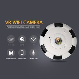 ip dome camera fisheye 2019 - Amorvue 1080P Wifi IP Camera 360 Degree Panoramic Dome Camera 1.44mm Fisheye Lens Night Vision Support TF Card Two Way A