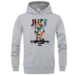 Wholesale Just Do It Graffiti Printed Mens Casual Designer Hoodies Hooded Sweatshirts Male Female Hip Hop Pullover