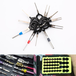 Crimp set online shopping - 11Pcs Set Terminal Removal Tools Car Electrical Wiring Crimp Connector Pin Extractor Kit Back Needle Remove Tool Set Tire Repair