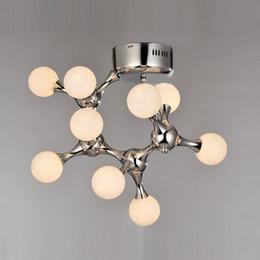 Machine knobs online shopping - Modern Simple Glass DNA Art Ceiling Lamp Nordic Molecule Bedroom Ceiling Lights Machine Dog Living Room Ceiling Lighting Fixtures