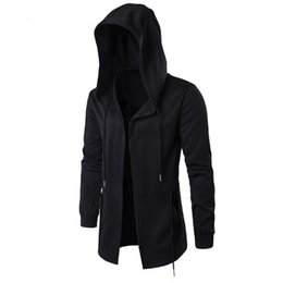 China Free Shipping 2017 Hoodies Men Black Cardigan Hoodie Men Hooded Assassin Creed Clothing Hoodies Outerwear Jacket Hombre cheap assassin clothes suppliers