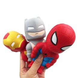 Batman cartoon hero online shopping - Kawaii cm Marvel Super Hero Squishy toy Cartoon Batman Thor Spiderman Iron Slow Rising Squishies PU Scented Squeeze Relief Toy Xmas gift