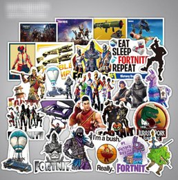 ps4 pads 2019 - Game Fortnite Stickers For Computer PS4 Pad Phone Laptop TV Fridge Bicycle Pvc Waterproof Decal Sticker 46 Pcs lot LE110