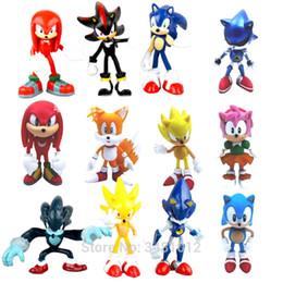 Discount sonic toys figures - Sonic World Adventure Metal Sonic Werehog Tails PVC Action Figures Shadow Knuckles Anime Figurines Dolls Kids Children T