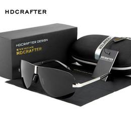 Discount hdcrafter sunglasses - HDCRAFTER Rimless Sunglasses men Polarized UV400 brand design pilot goggle driving sunglasses for men male classic