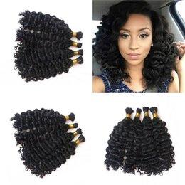 Hair sold bulk online shopping - Peruvian Human Hair Bulk Bundles Natural  Color Hot Sell Deep b048e6b89b62