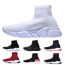 Discount table tennis shoes for size - Speed Trainer Sock Shoes For Men Women Speed Runner Race Black White Running Sports Sneakers Luxury Designer Boots Paris