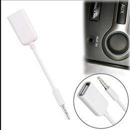 Mp3 car jack online shopping - 3 mm Male Audio Plug Jack To USB Female Converter Cord Cable Car MP3