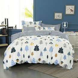 Discount printed sheets - Wongsbedding 100% Cotton Tree Duvet Cover Sets Plant Bedding Set Twin Full Queen King Size 3 4PCS Sheet Beddings