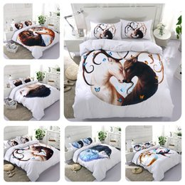 Discount printed sheets - 5 Styles Symmetrical Animal 3D Printed Twin~King Size Bedding Sets Bed Sheets Queen Bedding Sets King Size Comforter Set